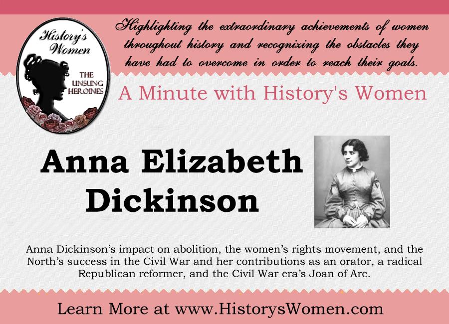 Social Reformer Anna Elizabeth Dickinson