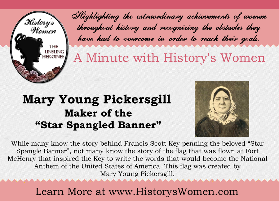 A minute with Mary Youngs Pickersgill from HistorysWomen.com