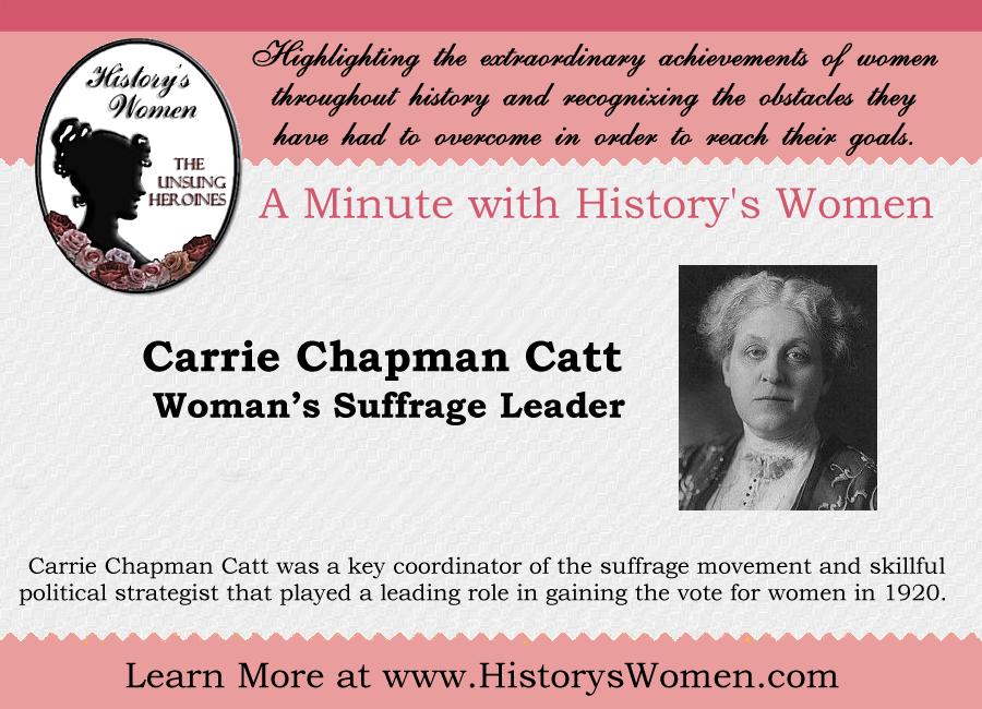 Social Reformer Carrie Chapman Catt