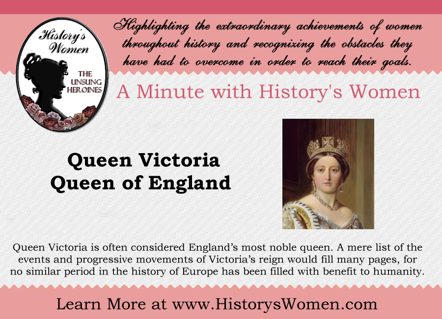 Women who Ruled:  Queen Victoria of England from HistorysWomen.com