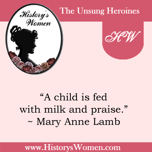 Quote by Mary Anne Lamb